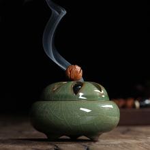 2015 New Arrival Longquan Celadon Buddhism Incense Burner Alloy Incense Burner Sandalwood Censer Home Decor Free Shipping(China (Mainland))