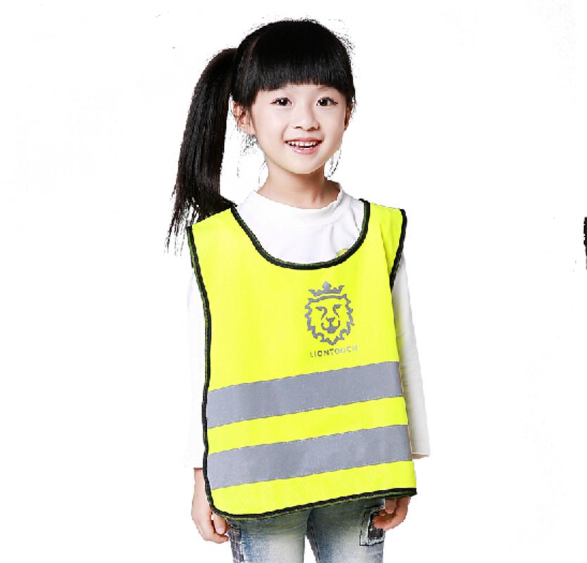 Высокое качество защиты детей одежда детские жилет безопасности высокая видимость одежды оранжевый спасательные жилеты chaleco reflectante