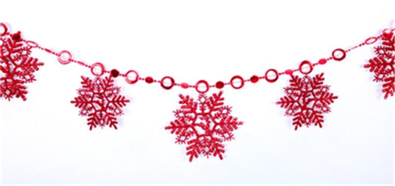 2016 Nova Cadeia de Enfeites De Natal Do Floco De Neve Da Árvore de Natal Decoração de Festa Festival Home Decor 2 m WSD028