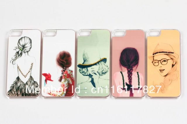 brand new fashionclear crystal rhinestone cell phone cases mobile case Hard Back Cover shell skin for iphone 5 5G 30pcs