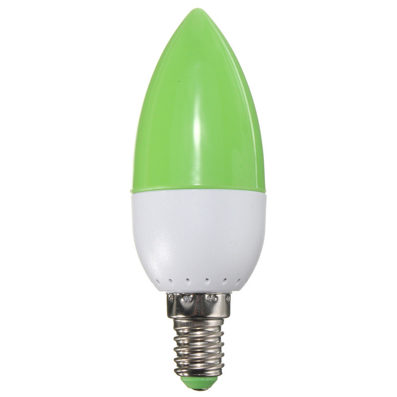 E14 5W 2835 SMD 10 LED Energy Saving Chandelier Candle Light Bulb Lamp 200Lumen Non Dimmable AC 220V Red Green Blue Orange(China (Mainland))