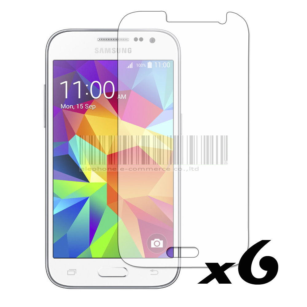 6PCS Clear LCD Screen Protector Film Guard Cover Skin For Samsung Galaxy Core Prime Prevail LTE G360 G360H G3606 G3608 G361F(China (Mainland))