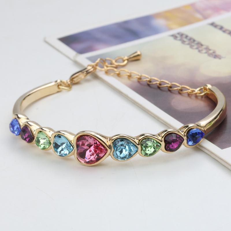 love bracelet cuff manchette femme h bracelets bangles women alex ani gold plated(China (Mainland))