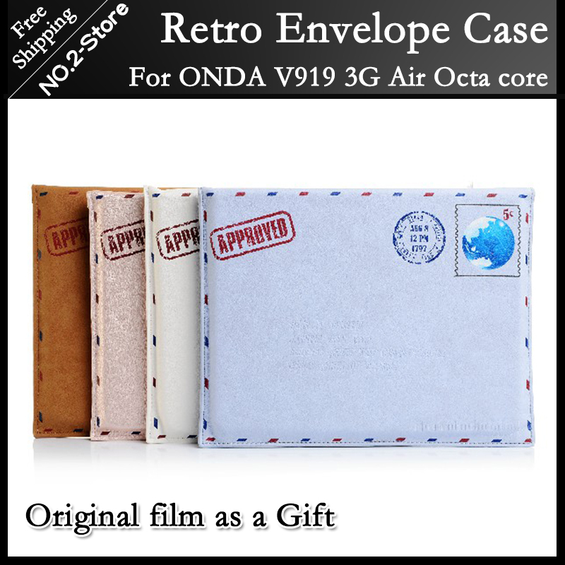 Original Samdi Personalized Fashion Envelope PU Leather Case for Onda V919 3G Air Octa core 9.7inch tablet pc freeshipping+gift(China (Mainland))