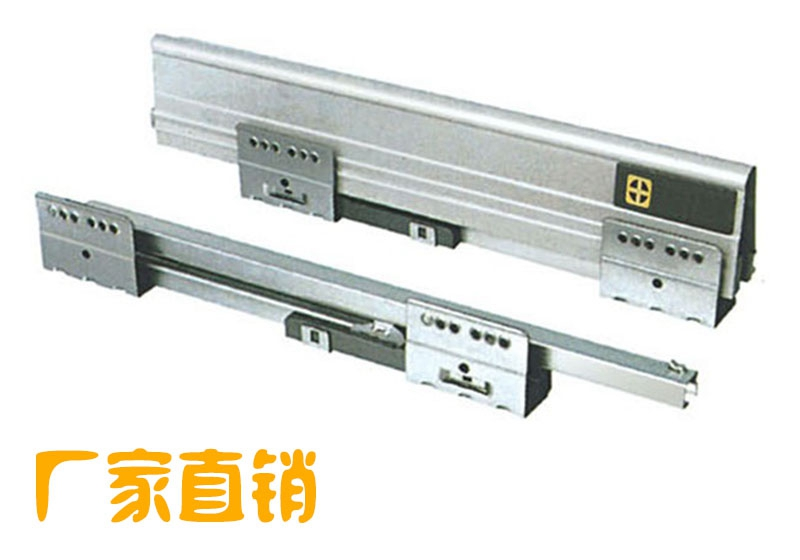 Hardware riding pumping three sections buffer damping drawer slide rail track side<br><br>Aliexpress