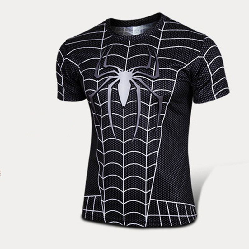 /Batman/spider man/captain America gym t shirt men fitness shirts ...