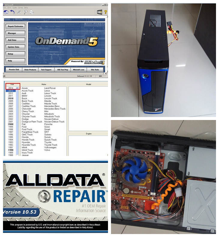 2016 alldata auto repair software alldata 10.53 and mitchell ondemand 2015 with 2tb hdd installed well in computer(China (Mainland))
