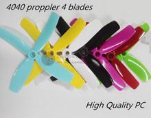12 pairs LB 4040 4×4 bullnose propellers high-quality 4 blades (CW/CCW) for DIY FPV mini drone QAV145/150/160/180 quadcopter