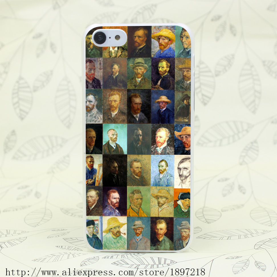 4776T Van Gogh Oil Painting Hard Transparent Cover Case for iphone 4 4s 5 5s 5C SE 6 6s Clear Cell Phone Cases(China (Mainland))