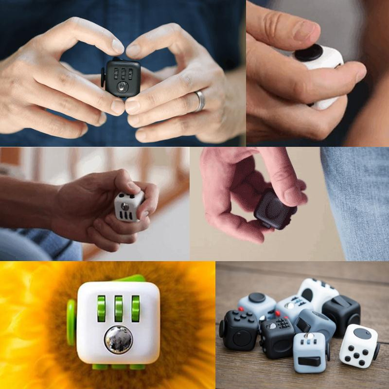 Hot Fidget Cube Squeeze Stress Reliever Gifts Fidget Cube Relieves Anxiety and Stress Juguet for Adults Magic Cube Toys 5ZHH227(China (Mainland))