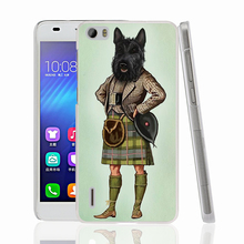 22909 Scottie Dog Kilt scottish terrier Animal cell phone Cover Case for huawei honor 3C 4A 4X 4C 5X 6 7 8 V8 Y6