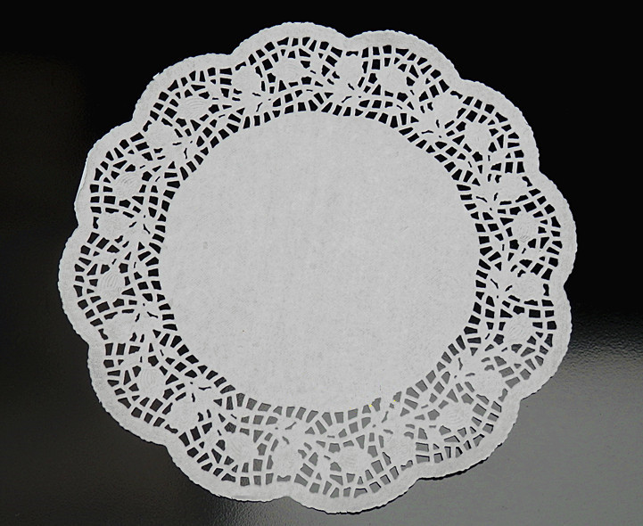 12 inches White Round Paper doily Romantic Embossed Lace pads for bakery Cake Biscuit cookies 250pcs(China (Mainland))