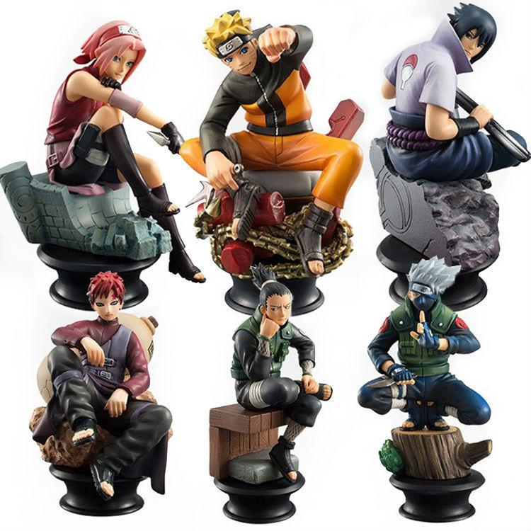6 PCS / Set Naruto Action Figure Doll High Quality Sasuke Gaara Shikamaru Kakashi Sakura Naruto Anime Toys Collection for Boys(China (Mainland))