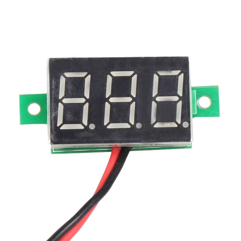 Mini DC 2.5-30V 1pc LCD digital voltmeter ammeter voltimetro Red LED Amp amperimetro Volt Meter Gauge voltage meter DC Wholesale(China (Mainland))