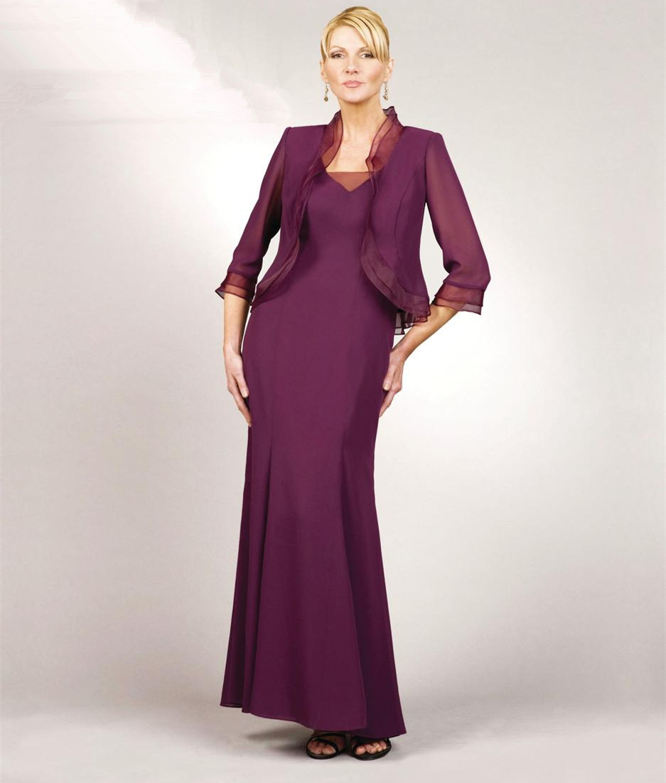 Mother Of The Bride Dresses Size 16 Ankle Length Jacket