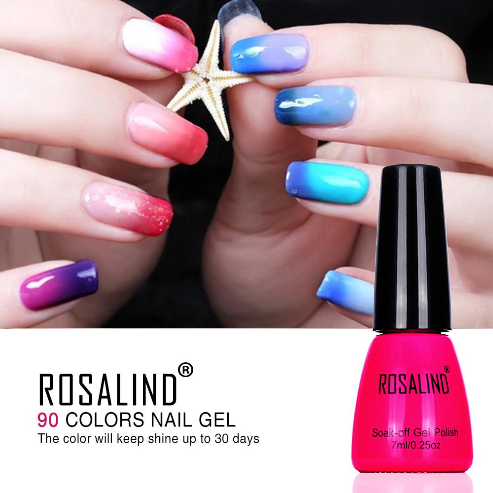 Color Changing Gel Nail Polish: Aliexpress.com : Buy ROSALIND Nail Gel Polish Temperature