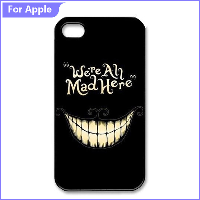Classic Pattern Phone Case iPhone 5 5S 6 6S SE Alice Wonderland We're Mad Cartoon Painted Hard Plastic Covers - FashionPhoneCase store