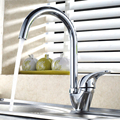 BECOLA Free shipping Swan hot and cold water kitchen faucet Single handle single hole brass mixer