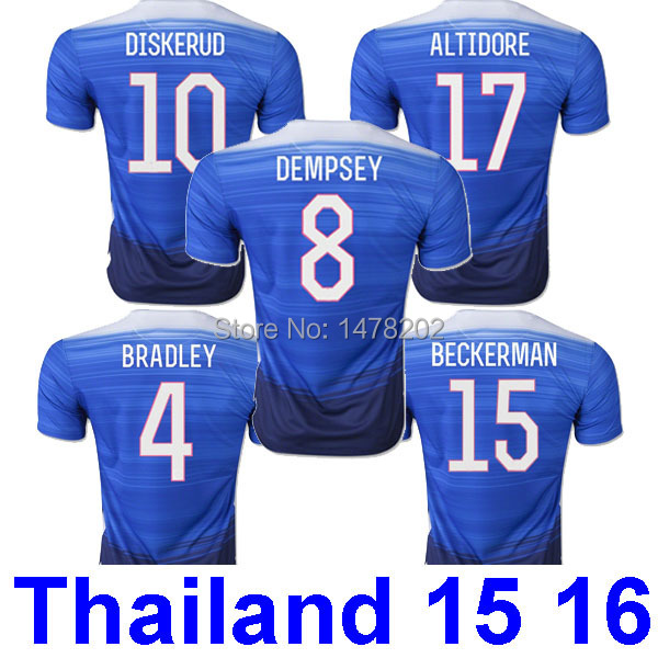 2015/2016 15/16 Ameica 2015 2016 Dempsey Altidore Diskerud Branley USA soccer jersey 15 16 2015 2016 2015 2015