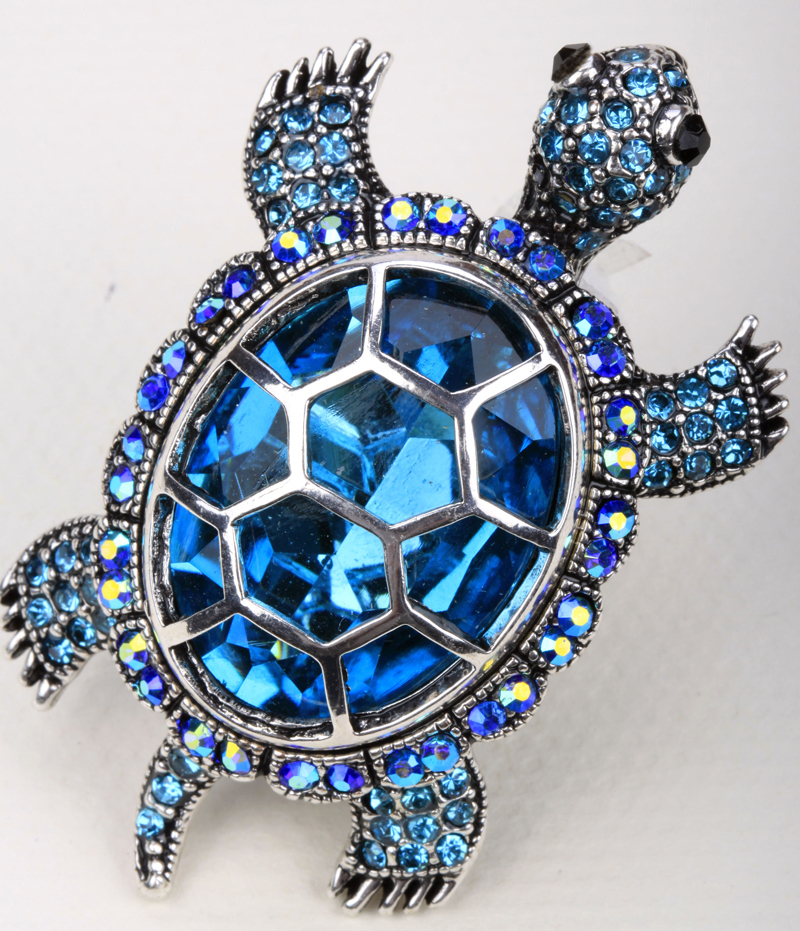 Turtle Tortoise Brooch Pin Pendant For Women Summer Style Crystal Jewelry Charm 2015 Fashion