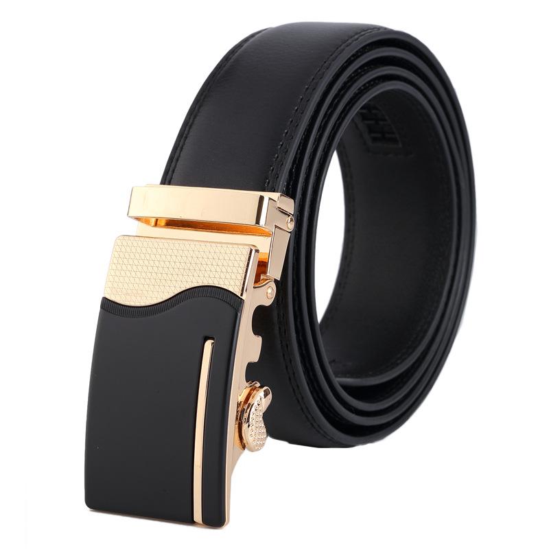 2016 designer belts men high quality Automatic Buckle Cowhide Leather men belt genuine Luxury Business Fashion belts for men(China (Mainland))