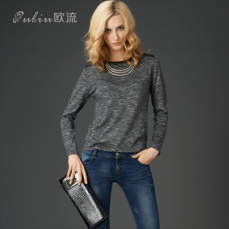 2015 New Spring Sweater Knit Shirt Pullovers Women ...