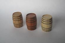Clásico barco de vela de madera montar kit de piezas de repuesto sólido barril de madera 2 unids/set