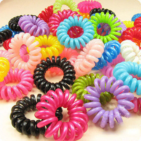 Sale 10 piece/lot New Arrival Cute Girls Elastic Hair Ties/Rope Bands Hair Telephone Line Ponytail Holder Women Black/Mix Color(China (Mainland))