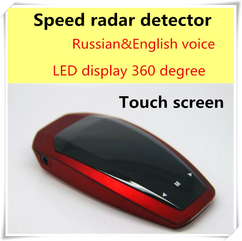 2015 newest cheapest auto parts Russian/English speaker 360 Degree Touch Screen car radar detector Conqueror for Speed Limited(China (Mainland))