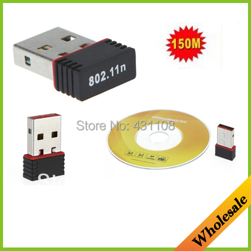 Free shipping Mini 150M Wifi Wireless USB Adapter IEEE 802.11n LAN Network Card for Computer & Networking for laptops & desktops(China (Mainland))