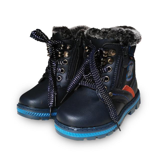 Супер качество 1 пара Зима теплая МАРКА Снегоступы Дети Загрузки ребенок хлопка-проложенный мужской обуви Дети ИСКУССТВЕННАЯ Кожа ребенок Мальчик Обувь