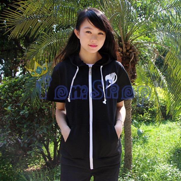 Fairy Tail Short Sleeve Hoodie-2