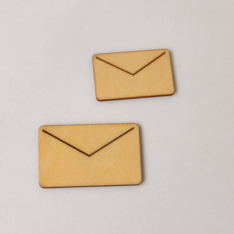 New Envelope Creative Products DIY Products Wooden Flourish Scrapbooking Embellishment Craft Products WF013(China (Mainland))