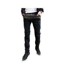 2015 New Arrival Hot-selling Jeans Men's Skinny Ripped  Slim Fit Jeans With Size 28-34 For Male Wholesale J058(China (Mainland))