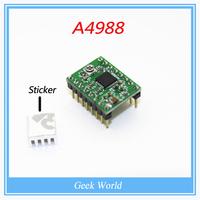 1pcs A4988 A4983 Stepper Driver + heat sink Heatsink for 3d printer 8mm*8mm*5mm with 3M Tape