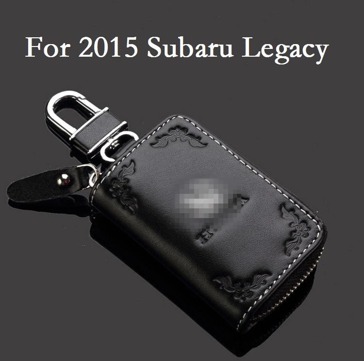 Fashion Leather Key Case Car Key Bag Keychain For 2015 Subaru Legacy Key Rings Key Cover Holder Key wallet(China (Mainland))