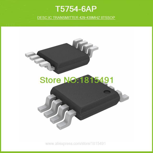 Free Shipping T5754-6AP IC TRANSMITTER 429-439MHZ 8TSSOP 5754 T5754 8-TSSOP 10pcs(China (Mainland))