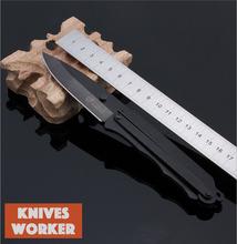 Sr Columbia cuchillo de hoja fija cuchillo mecánico Extra grueso negro de bolsillo cuchillos caza táctico del cuchillo de Nylon bolsa