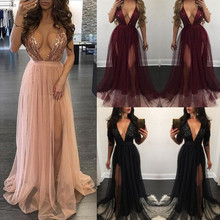 Buy 2017 Aakar shan New Fashion Style Sexy Deep V-Neck UK Womens Long Formal Sleeveless Dress Bridesmaid Party Ball Gown Long Dress for $10.77 in AliExpress store