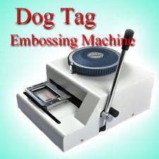 Lowest Price !52Code Dog tag embossing machine, Manual GI Military Steel Metal PET Dog Tags Embosser ID Card Printer Machine(China (Mainland))