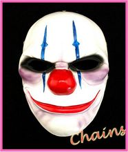 Free Shipping Joker Dallas Chains Wolf Hoxton Pay Masks High Quality Vivid Details Game Fans Collection toy Halloween Day Gifts(China (Mainland))