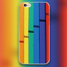 Colours of the Rainbow Design transparent case cover cell mobile phone cases for Apple iphone 4 4s 5 5c 5s 6 6s 6plus hard shell