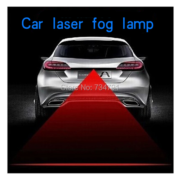 Anti Collision Rear-end Car Laser Tail Fog Light Auto Brake Parking Lamp Rearing Warning - guangzhoug joemy auto lights store