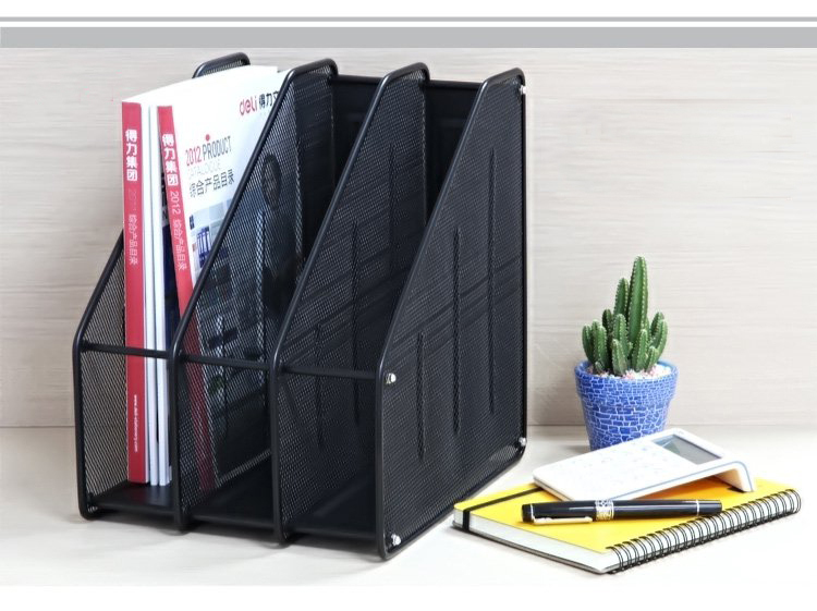 Office stationery: file tray/file shelf/cubbyhole of stainless stell frame and wire mesh, three interlayers for notebooks/files(China (Mainland))