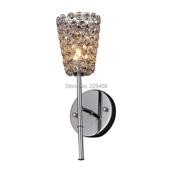 Modern Wall Lamp K9 Crystal Sconce Art Headboard Corridor Mirror Lampshade Fixtures G9 220V