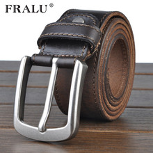 Buy FRALU cowhide genuine leather belts men cowboy Luxury strap brand male vintage fancy jeans designer belt men high for $19.07 in AliExpress store