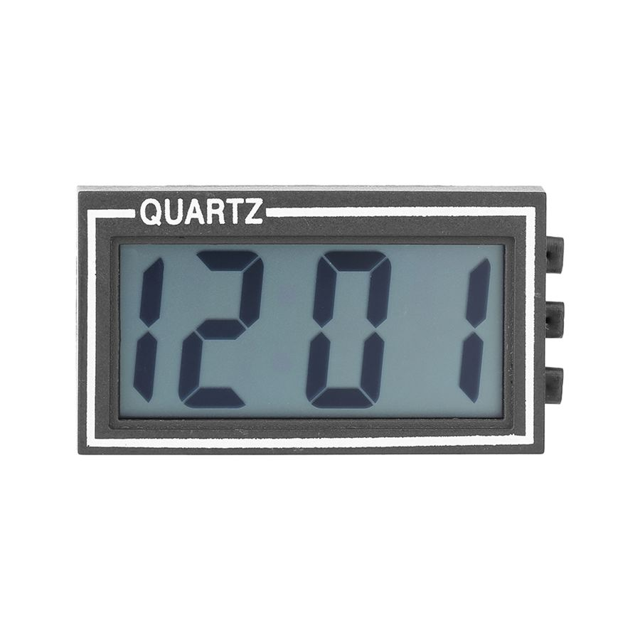 Mini Black LCD Digital Screen Large Display Clock Auto Car Use Time Date Calendar Clock Without battery(China (Mainland))