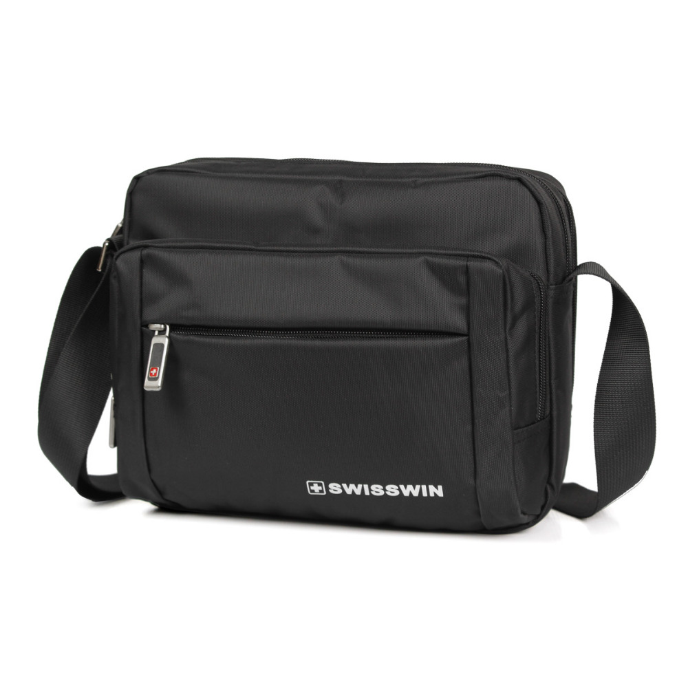 Swisswin new high quality luxury men messenger bags famous brand designers black wholesale bag sw5051v hot sale(China (Mainland))