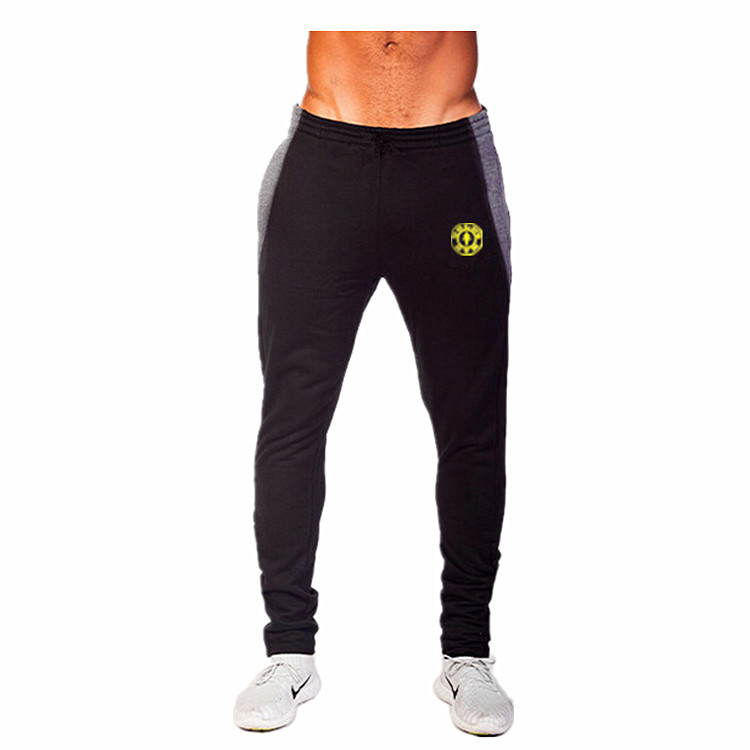 Famous Brand Golds Gym Luxe Fitted Bottoms Mens Trousers 100% Cotton Sport Soccer Training Pants Black/Blue/Grey Calca Masculina(China (Mainland))