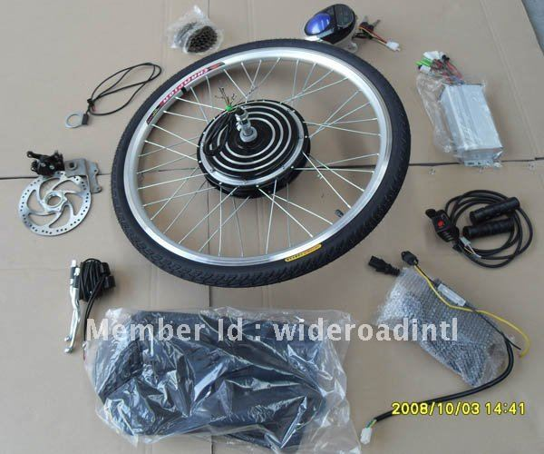 "Promotion!!!disc brake, 48v 1000w electric bike conversion kits with 28"" rear wheel"